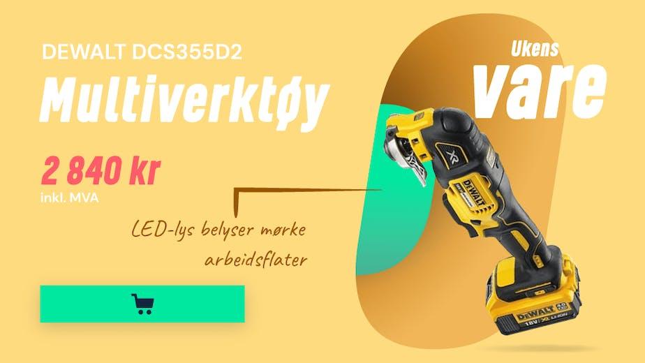 https://www.staypro.no/maskiner-verktoy/batteridrevne-verktoy/multiverktoy/dewalt-dcs355d2-multiverktoy-med-20-ah-batterier-og-lader
