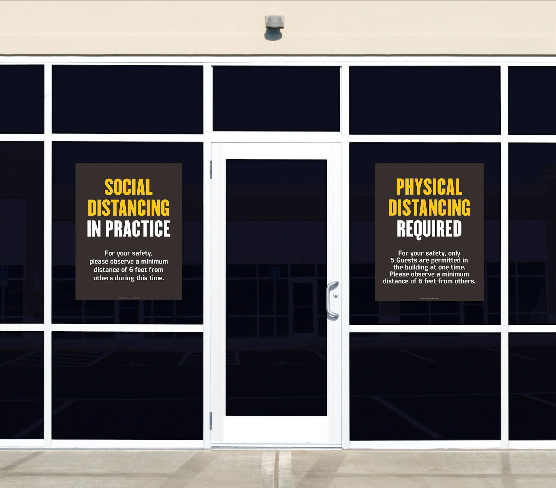 Window Clings for a business