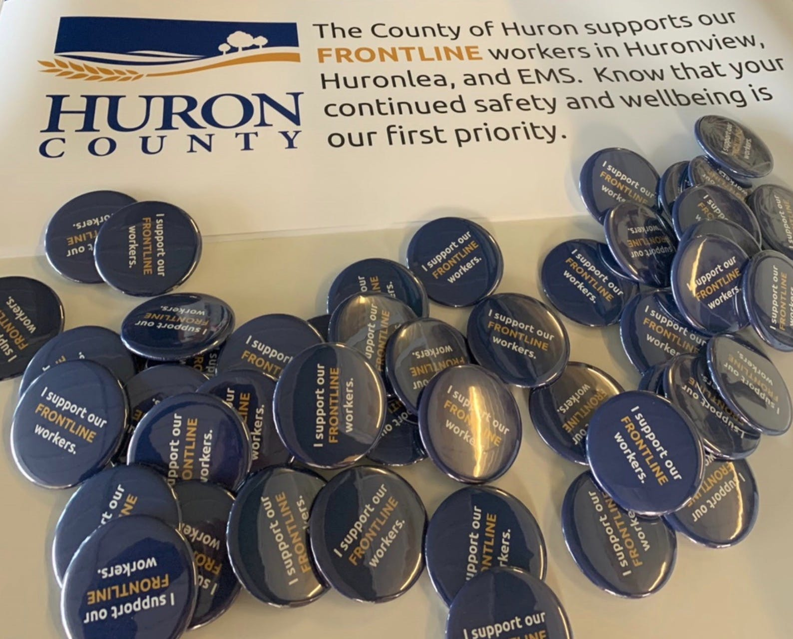 Buttons for Huron County