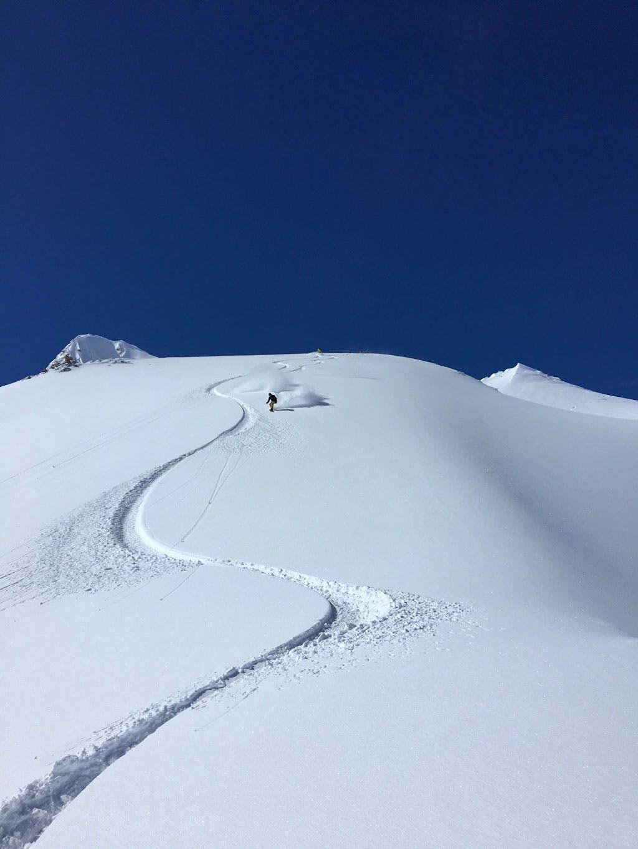 Freeride Snowboarder Tignes