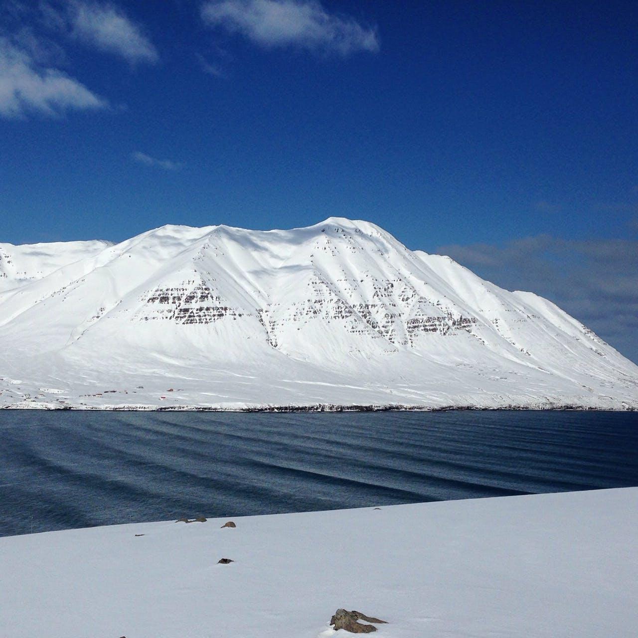 Mountain view Splitboard Adventure Dalvik Iceland