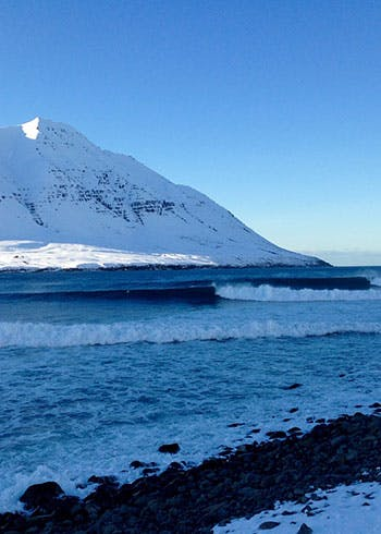 waves and mountains Dalvik  Iceland