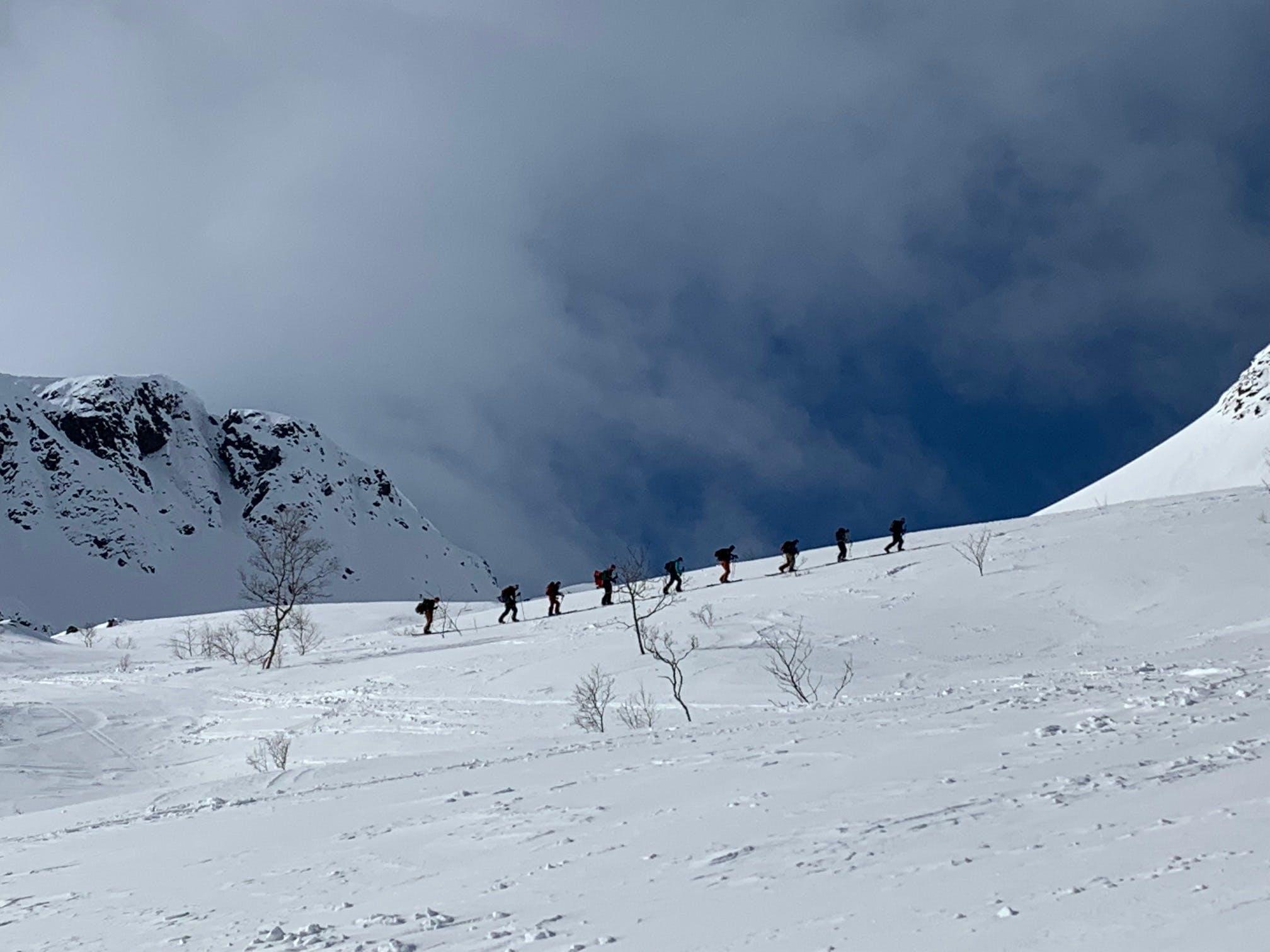 Norway Lofoten snowboard splitboard trip