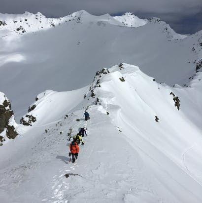 Backcountry freeriding Gargellen Austria