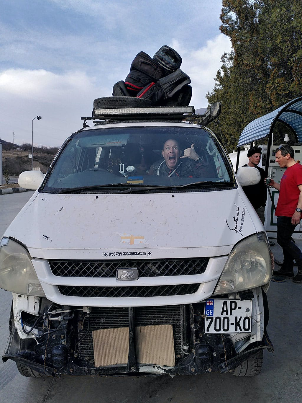 Taxi to Tbilisi after backcountry adventure