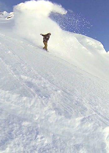 Freeride Snowboarding Gargellen Austria