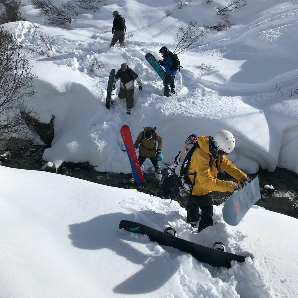 snowboarders adventure snowboarding