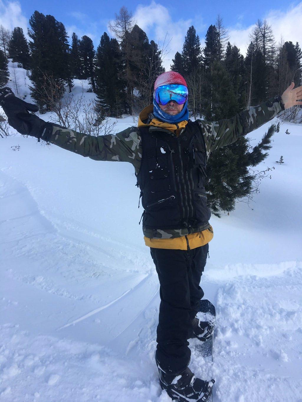 James Stentiford snowboarding