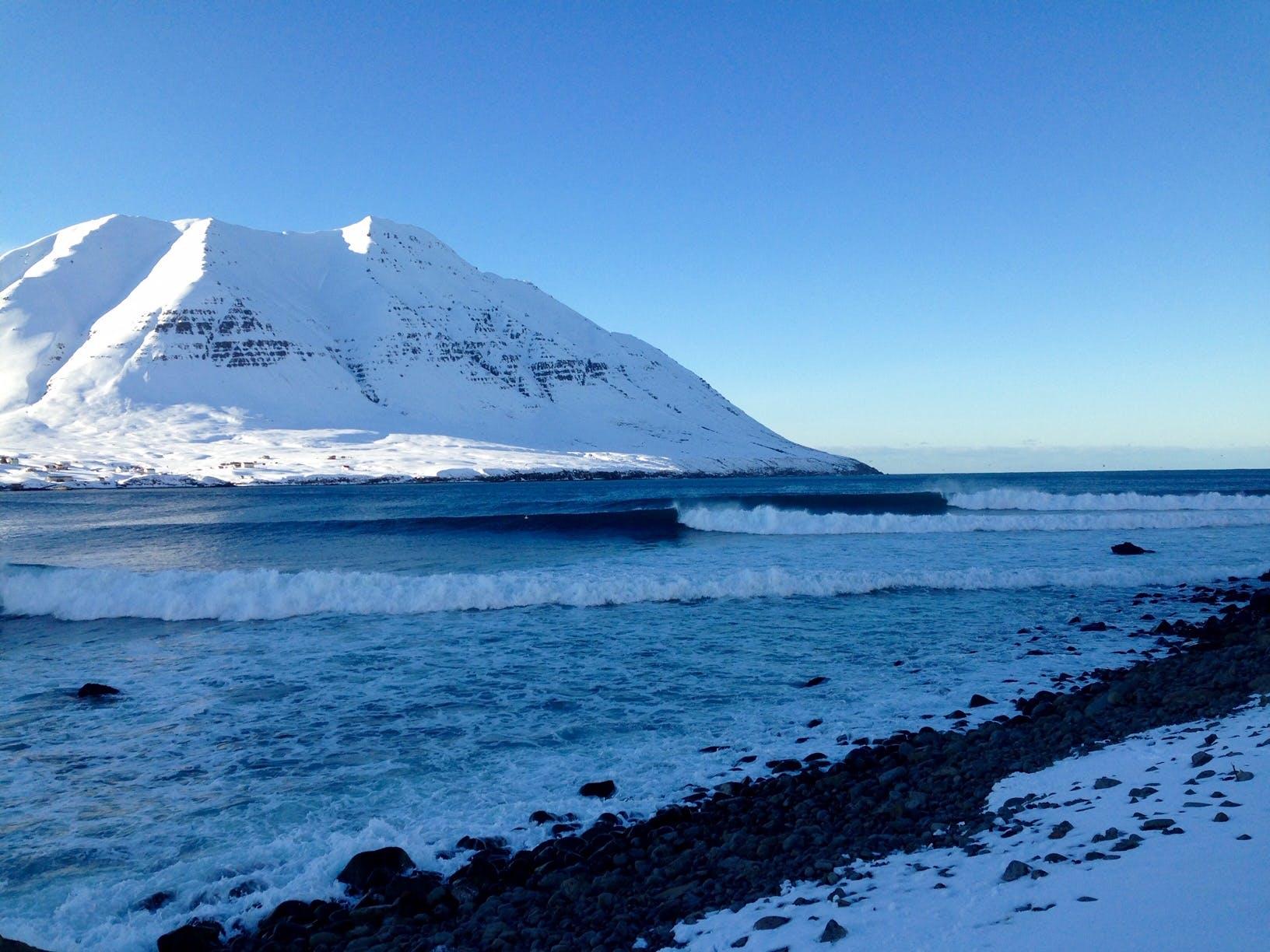 empty waves Iceland