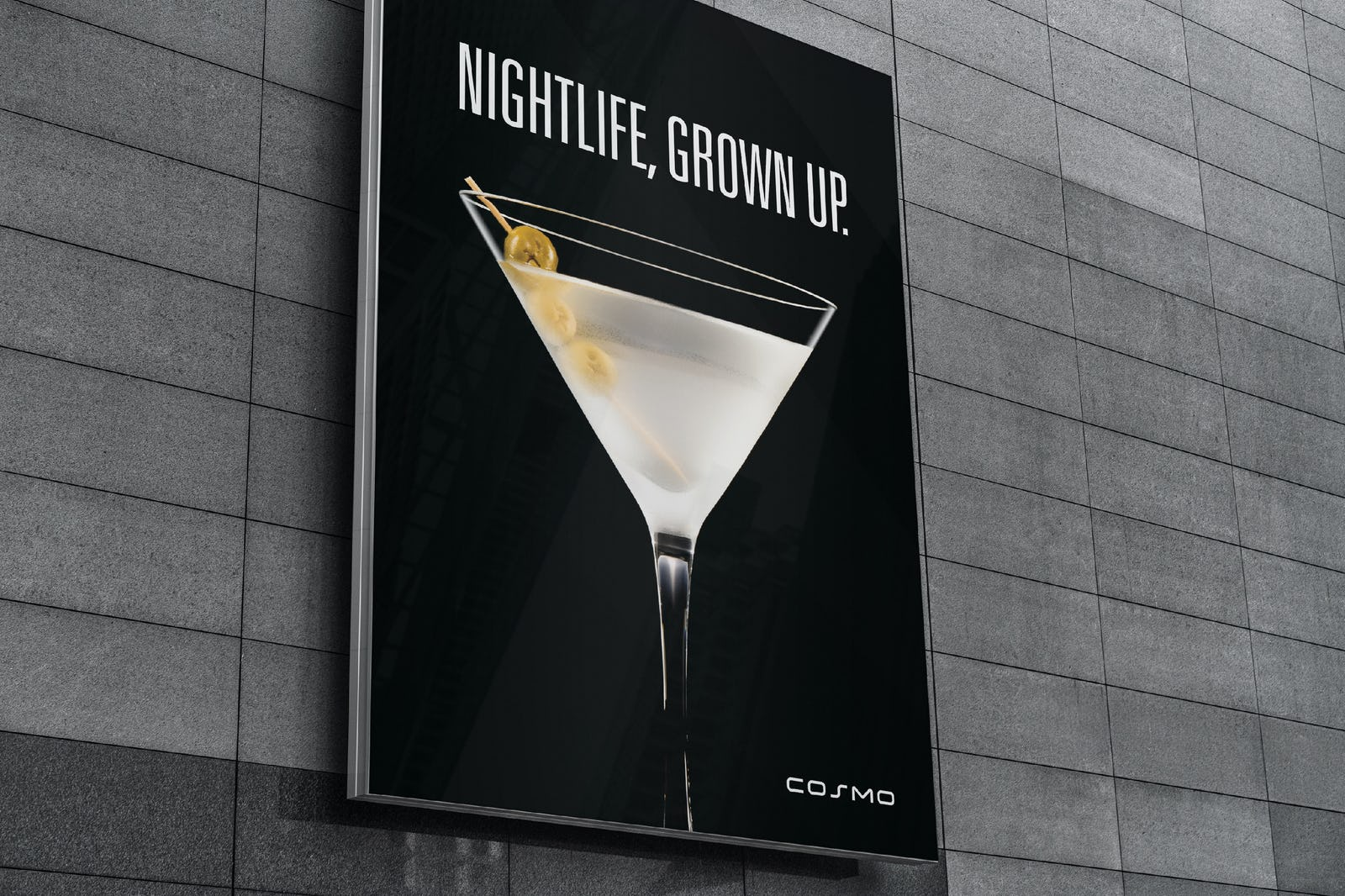 Cosmo nightlife ad design