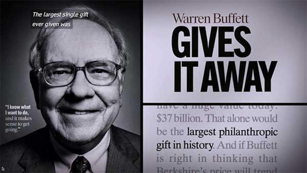 Warren Buffett filantrop
