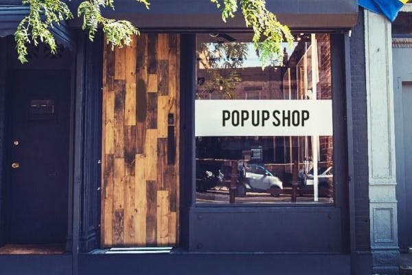 Picture of a pop up shop