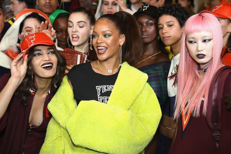 Rihanna's showroom in Parijs