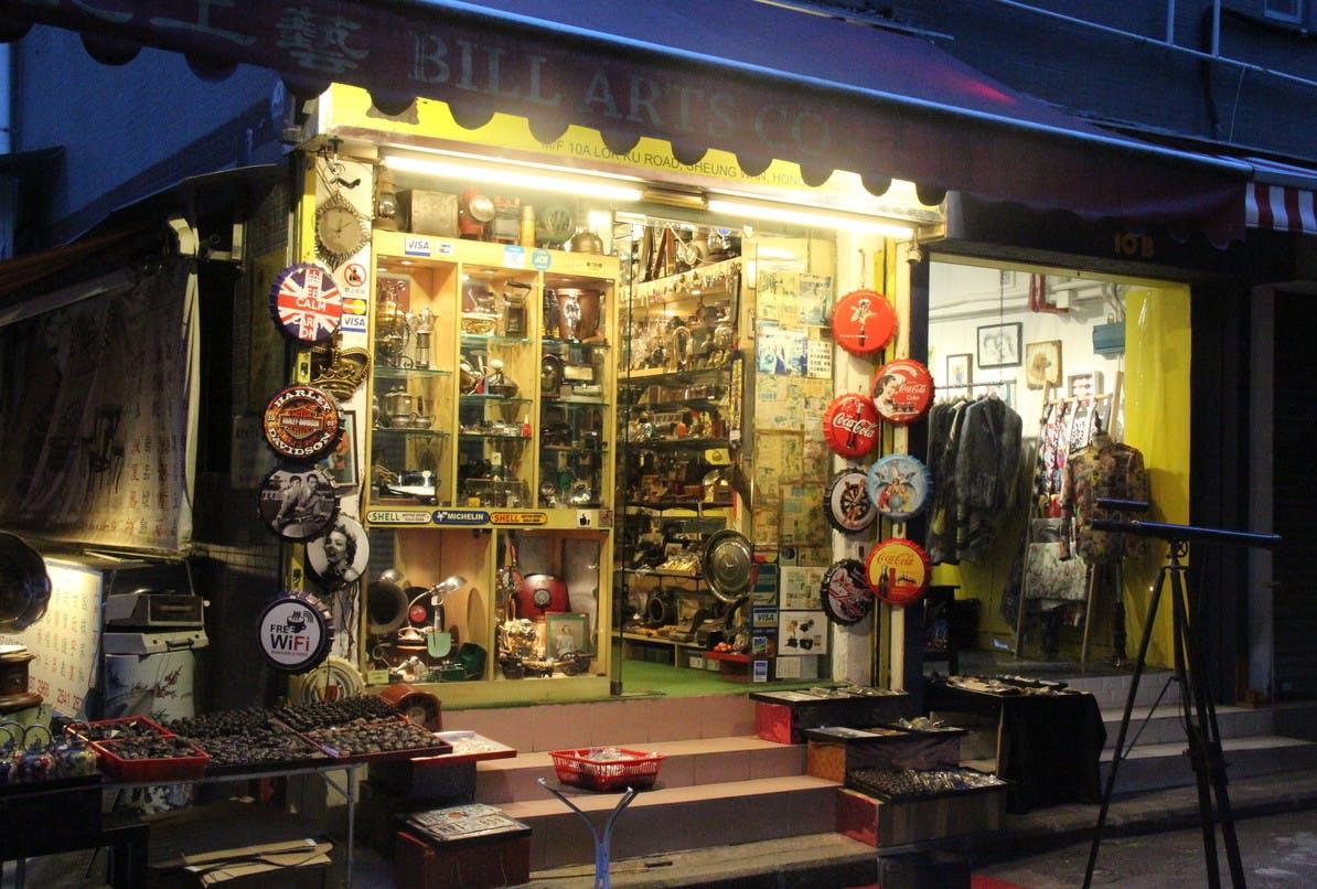 storefront guide pop-up store in sheung wan hong kong street art
