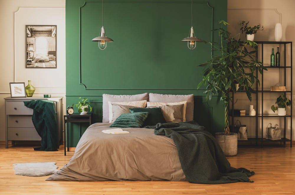 verde pentru dormitor