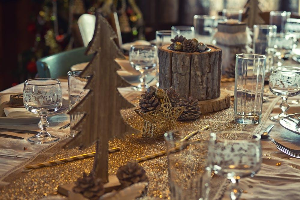 decorarea mesei de sarbatori