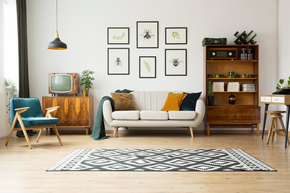 Amenajarea livingului: tot ce trebuie să știi despre alegerea covorului