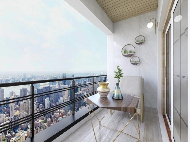 Balcon in stil minimalist