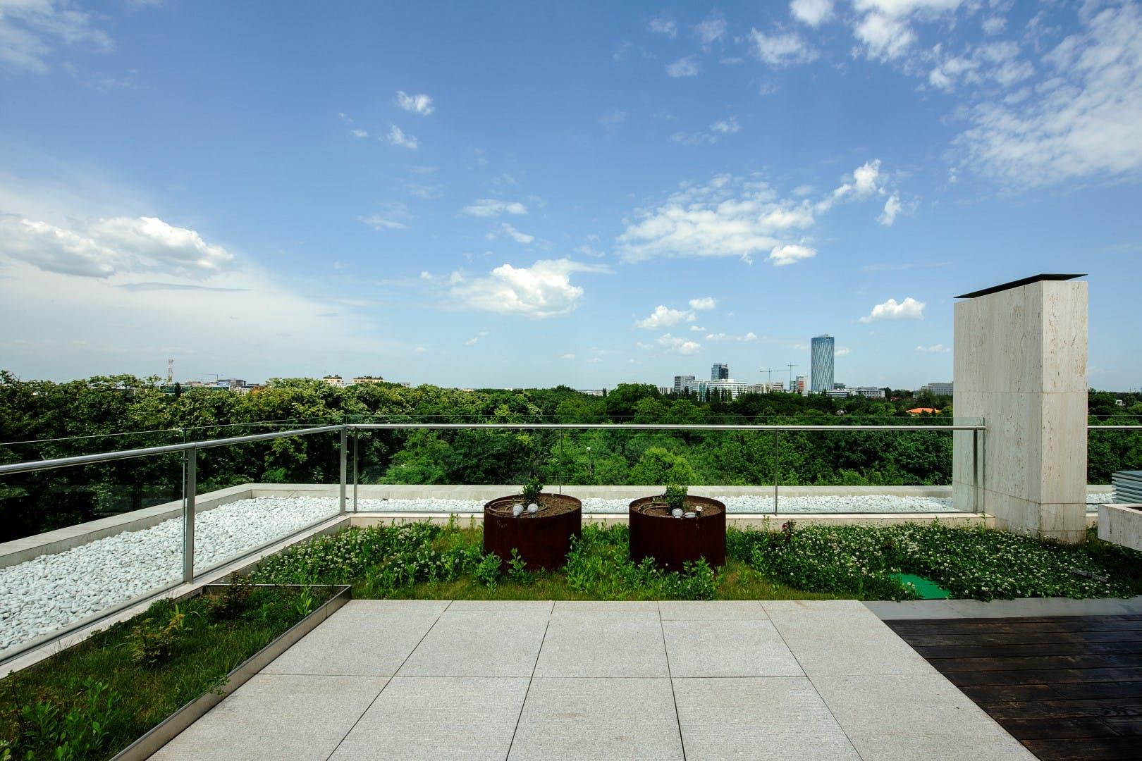 Penthouse cu gradina