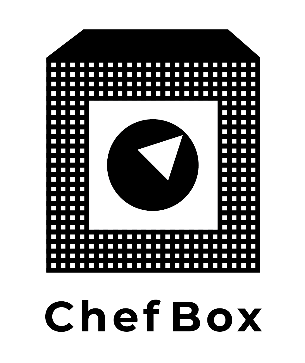Black & white checkered box brand mark for Straight To The Source's ChefBox program