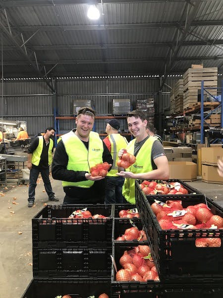 Chefs on a Straight To The Source tour to Rivapak Onions, South Australia