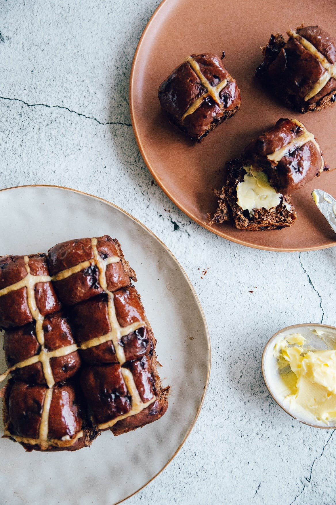 This Is Us Mocha Hot Cross Buns.