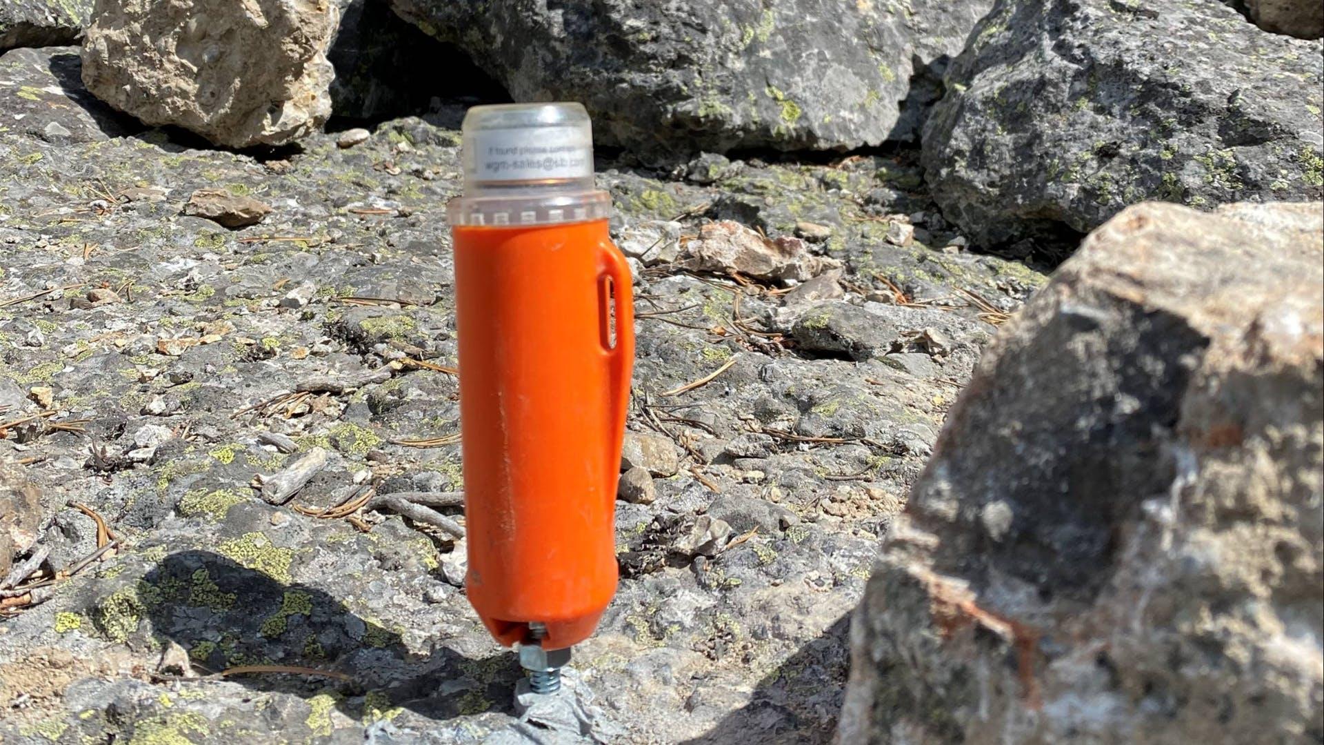 Seismic survey node in mountains STRYDE & Explor