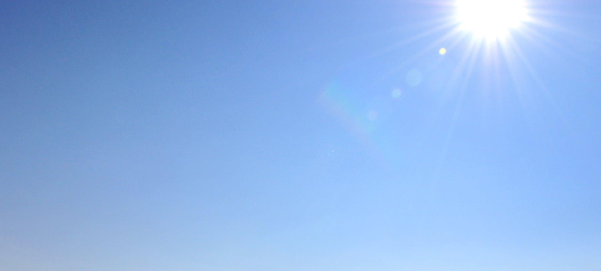 Blue sky with bright sunshine