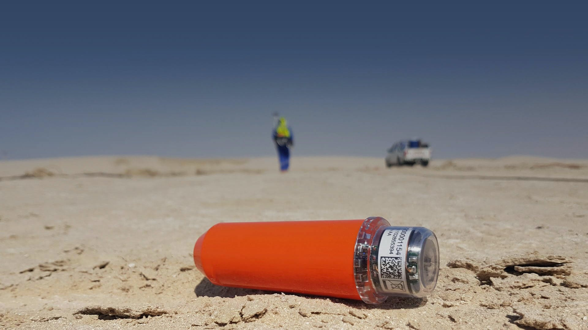 STRYDE autonomous node for seismic exploration and acquisition on the ground in the desert