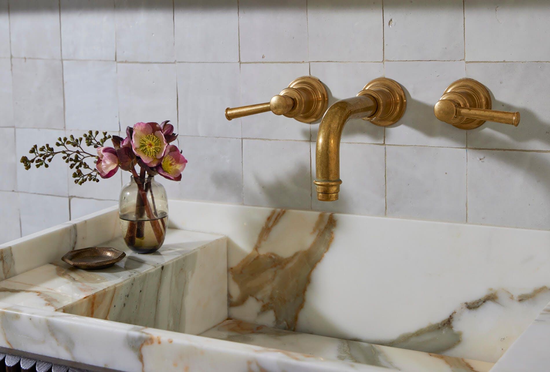 Bathroom basin close up