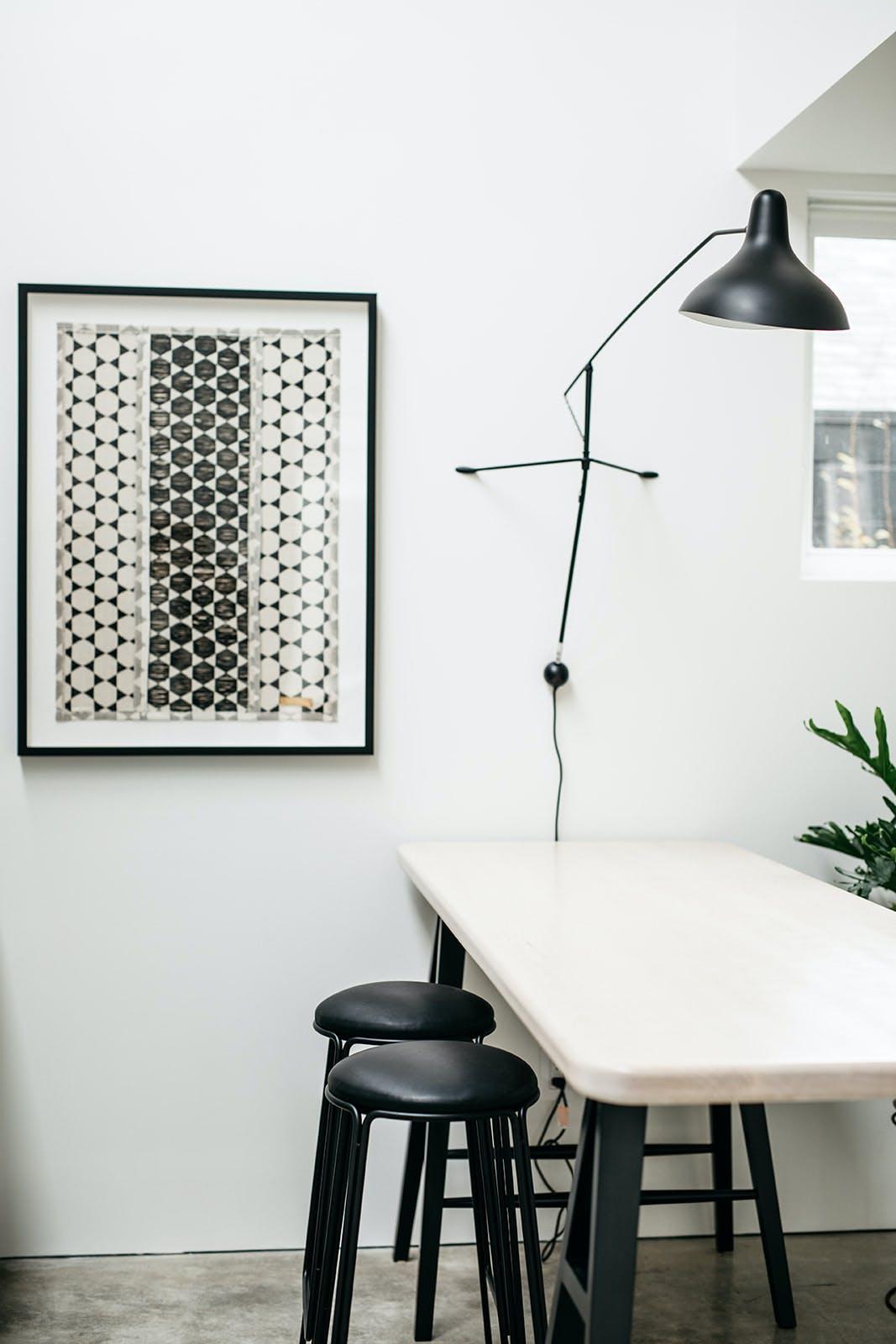 Wall art and lamp