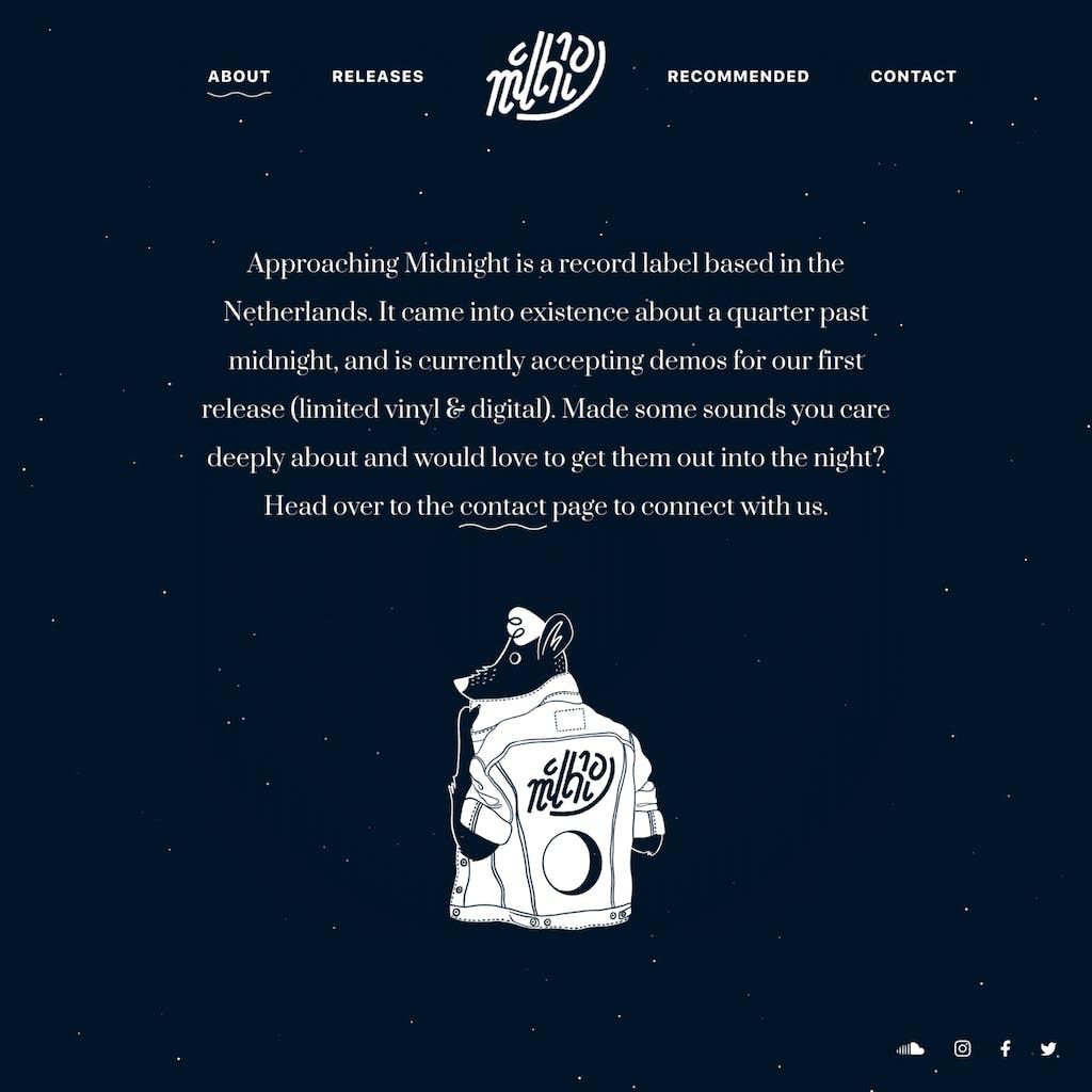website afbeelding van mascotte record label