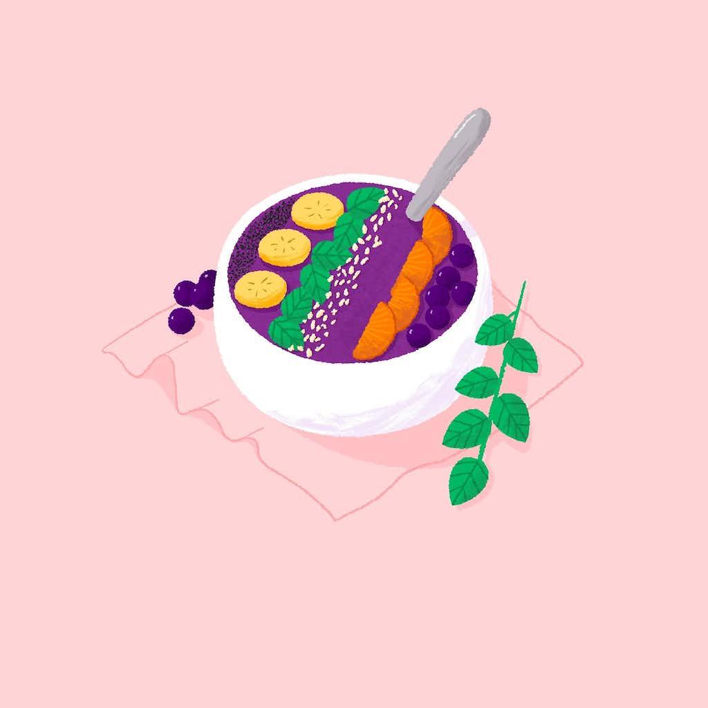 smootie bowl illustration