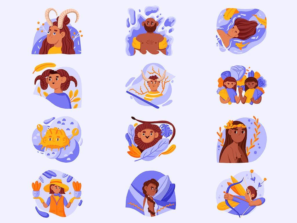 illustrations zodiac