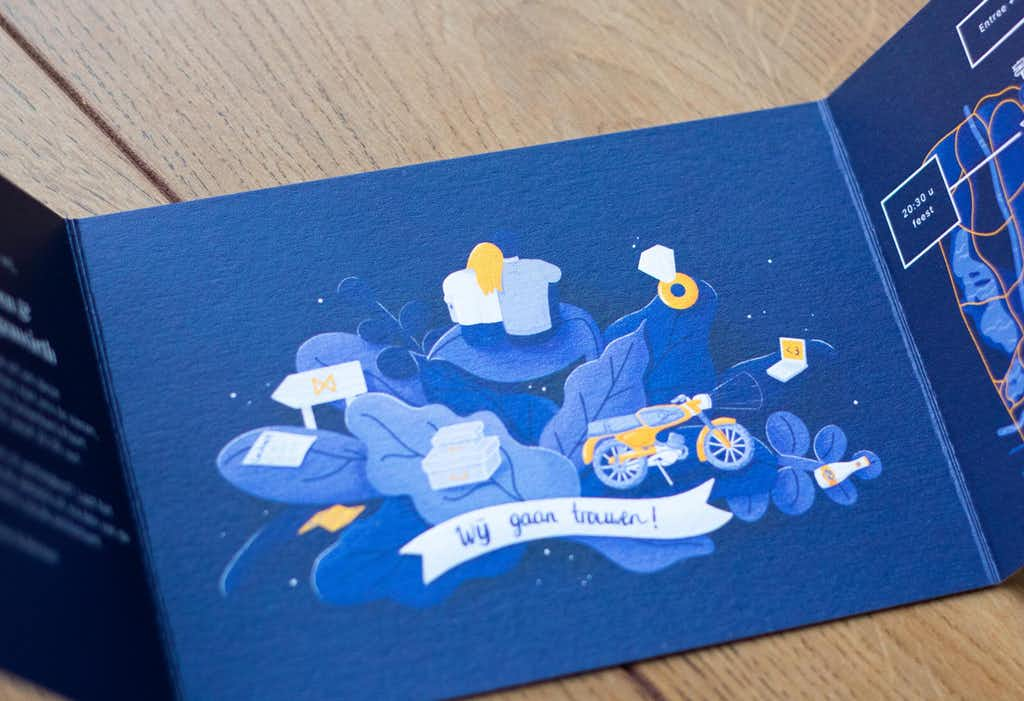 inside of the wedding card