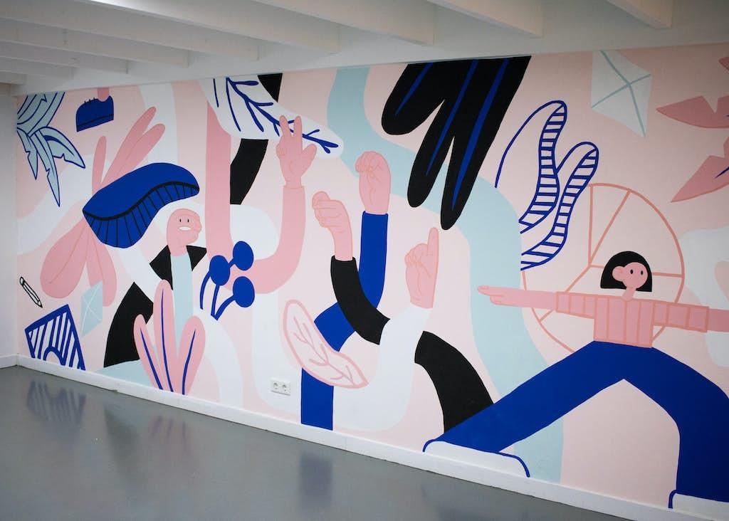 muurschildering wordlenig door stutpak vanaf de rechterkant