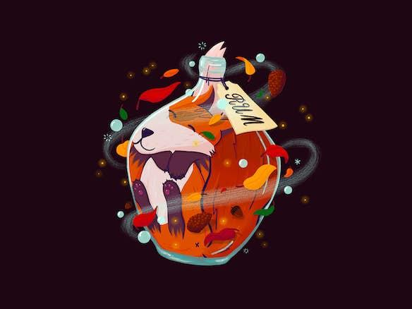 uitgelichte afbeelding vossenjacht vos in rum fles