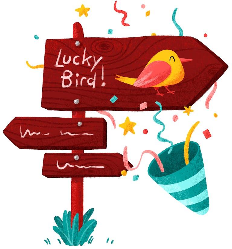 keuze afbeelding luckybird