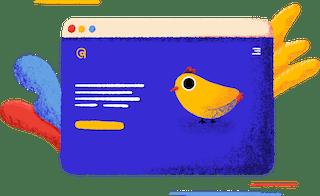 branding spot illustration of a webpage from stutpak