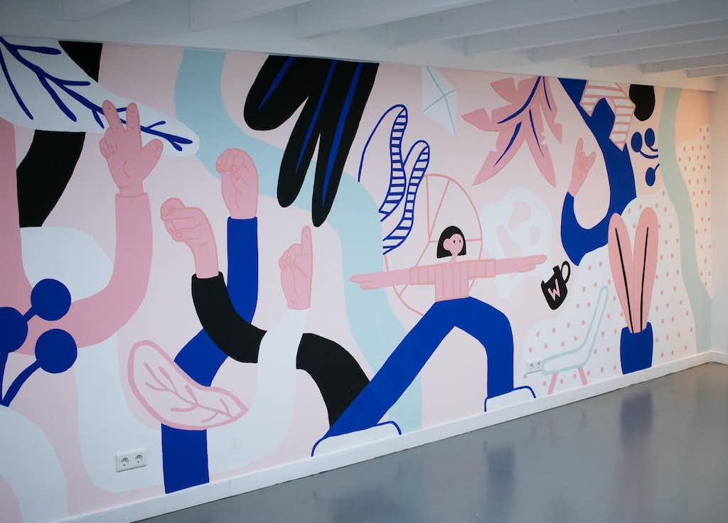 mural wordlenig right side