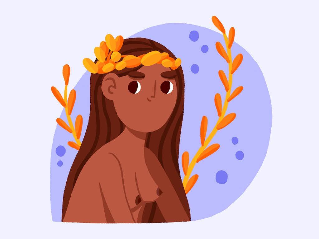 virgo illustration zodiac