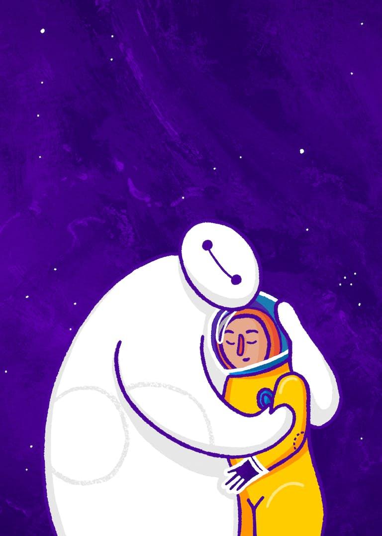 illustraties van big hero 6 voor de zine voor zelf promotie van andra