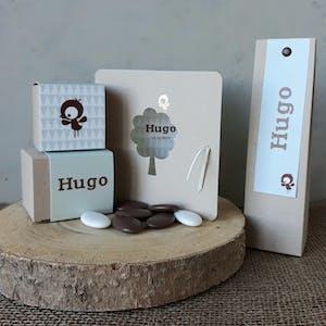 Doopsuiker en geboortekaartje voor Hugo