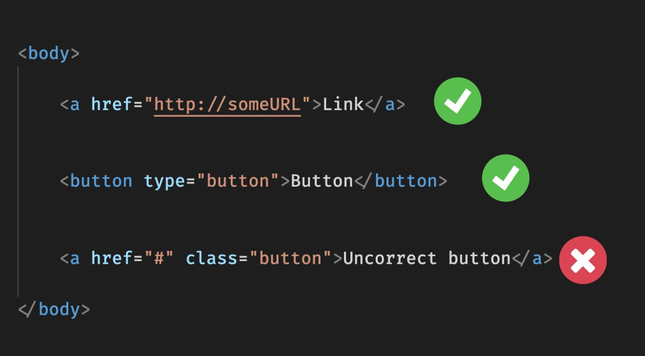 Links and Buttons.