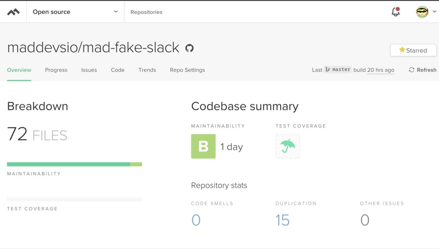 Mad Devs Mad Fake Slack on GitHub.