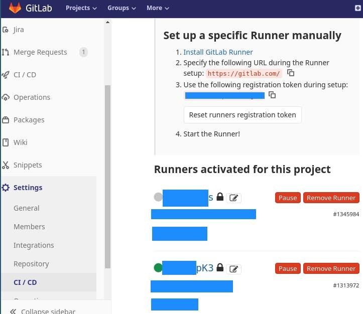Working Gitlab-Runner.