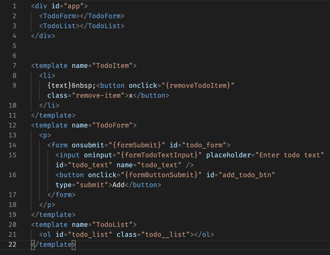 HTML Source before Processing with our Simple React.