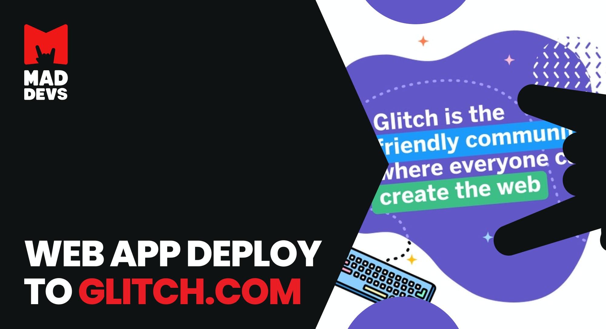 Glitch.com + Node.js.