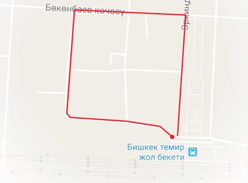 Bishkek City Map.