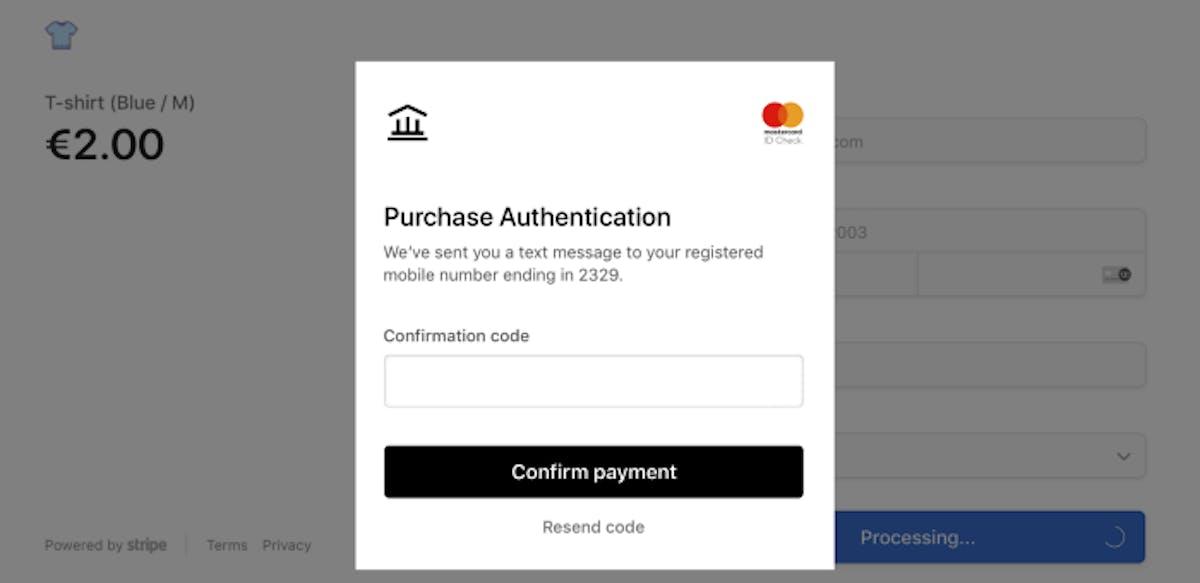 3D Secure Purchase Authentication.